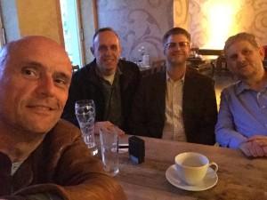 vlnr: Markus Dreesen, Marco Röttger, Markus Tofote und Heiner Tenz - ganz altmodisch als Selfie!