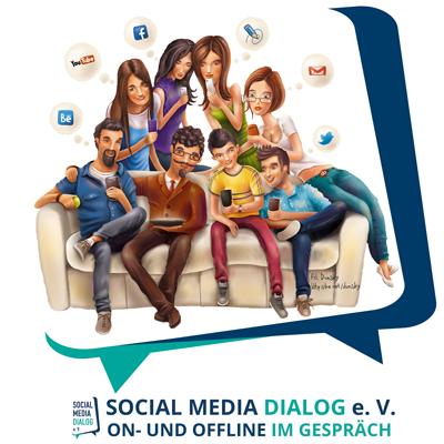 Bild-Text Logo mit Couchgruppe SoMeDialog